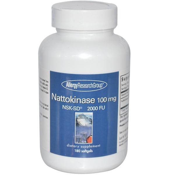 Nattokinase NSK SD 2000 FU 100 mg 180 Softgels Allergy Research Group