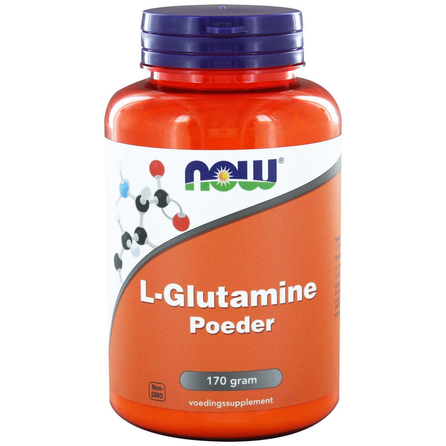 L Glutamine Poeder (170 gram) NOW Foods
