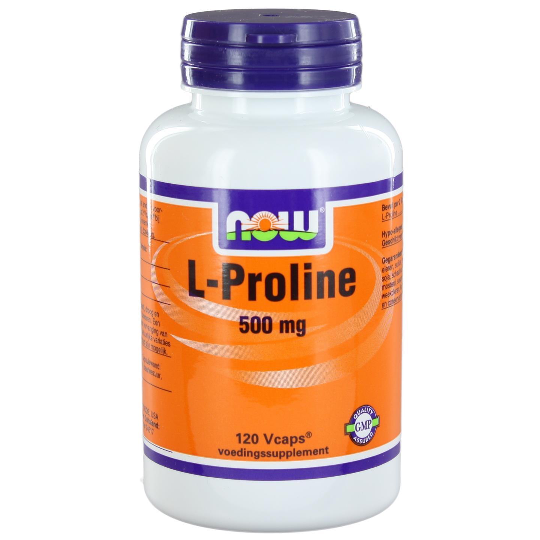 L Proline 500 mg (120 vegicaps) NOW Foods
