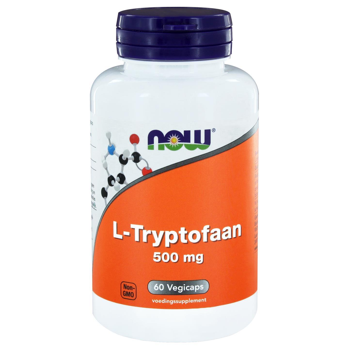 L Tryptofaan 500 mg (60 vegicaps) NOW Foods