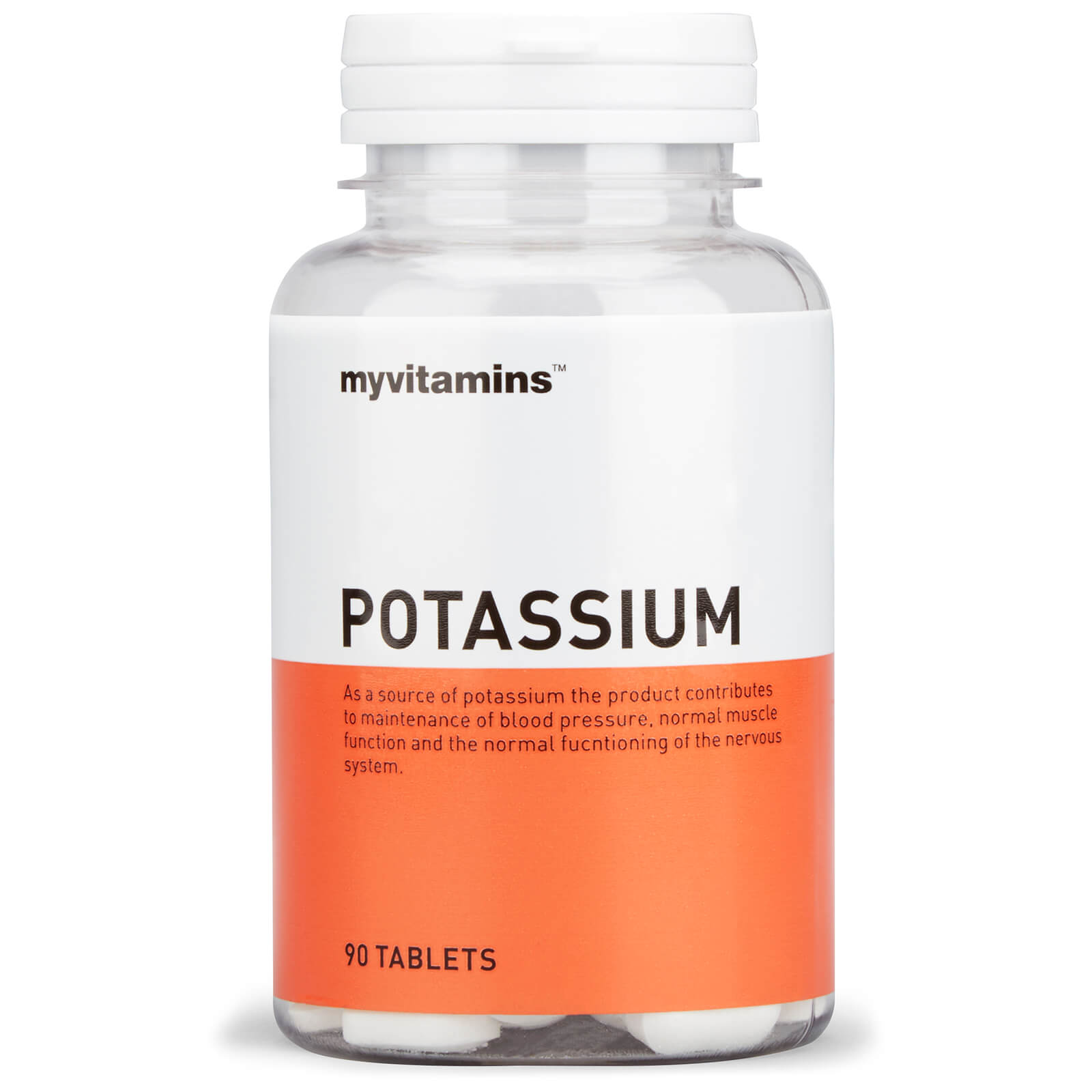 Myvitamins Potassium (90 Tablets) Myvitamins