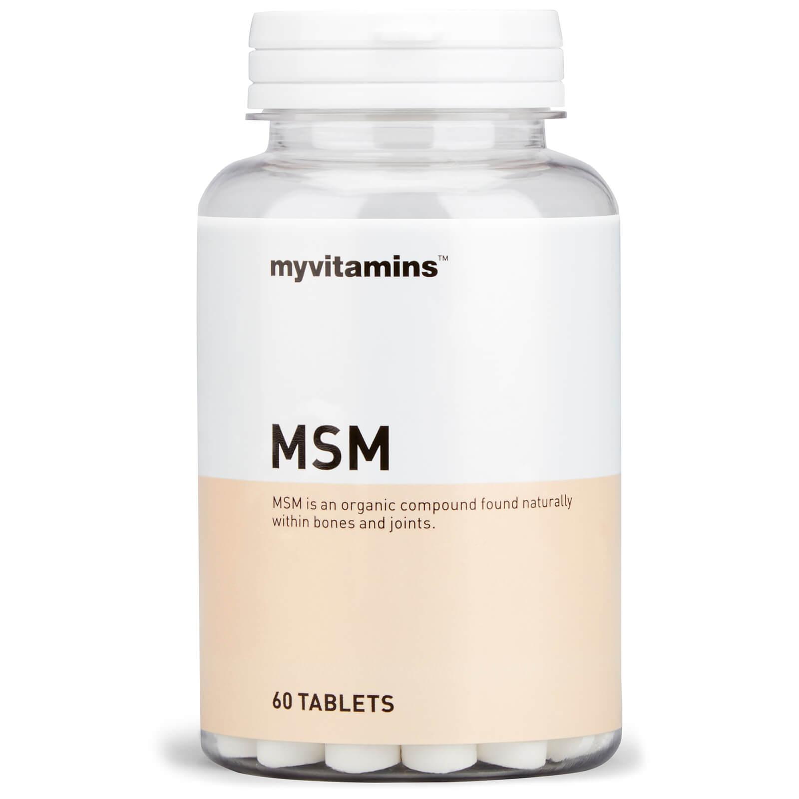 MSM (60 Tablets) Myvitamins Myvitamins Beste koop