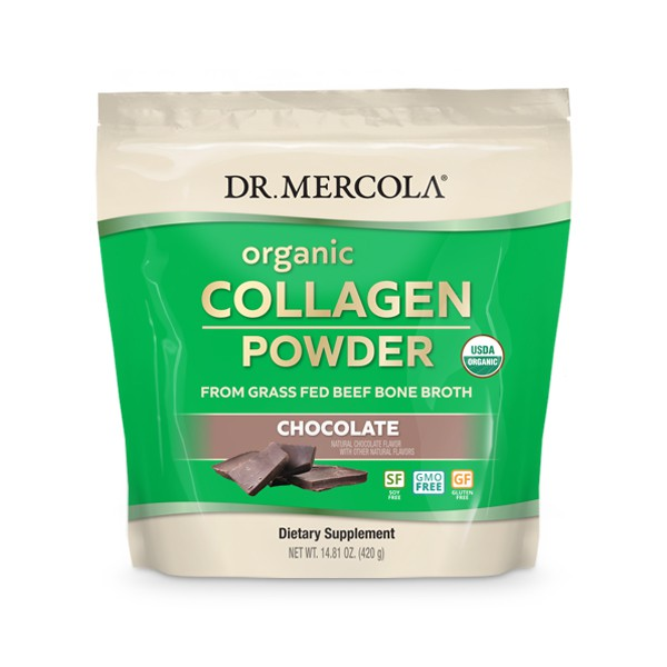 Organic Collagen Powder 304 gram Chocolate Dr. Mercola