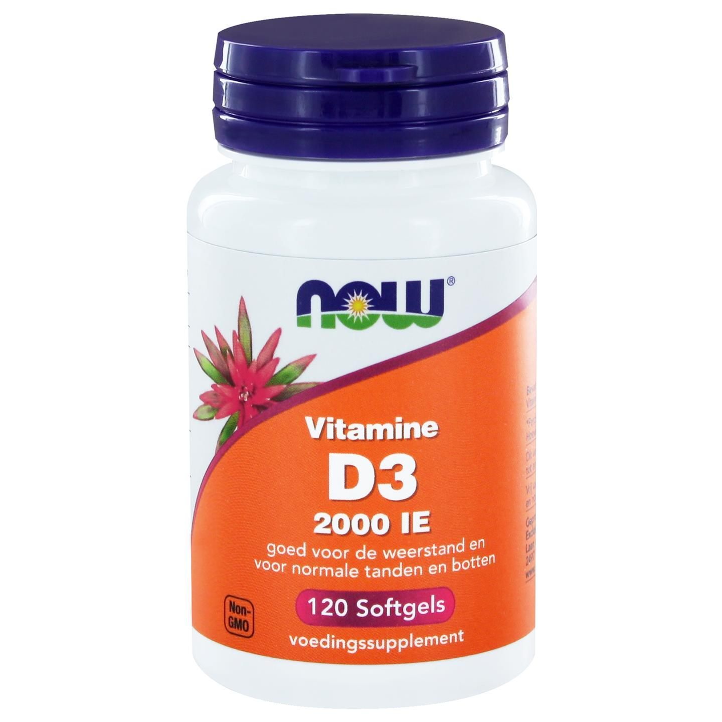 Vitamine D3 2000 IE (120 softgels) NOW Foods Now Foods