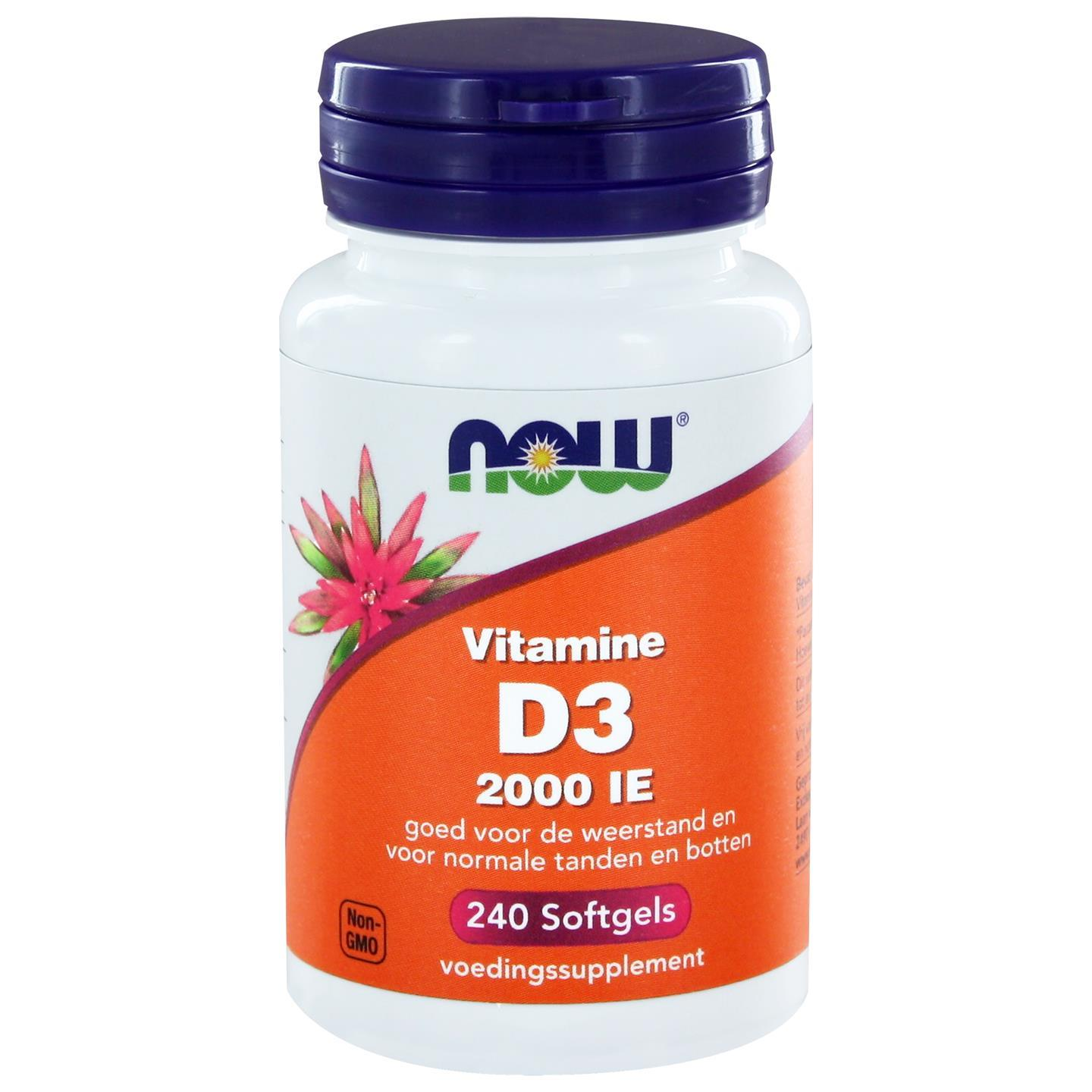 Now Foods Vitamine D3 2000 IE (240 softgels) NOW Foods