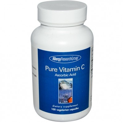 Pure Vitamin C 100 Veggie Caps Allergy Research Group