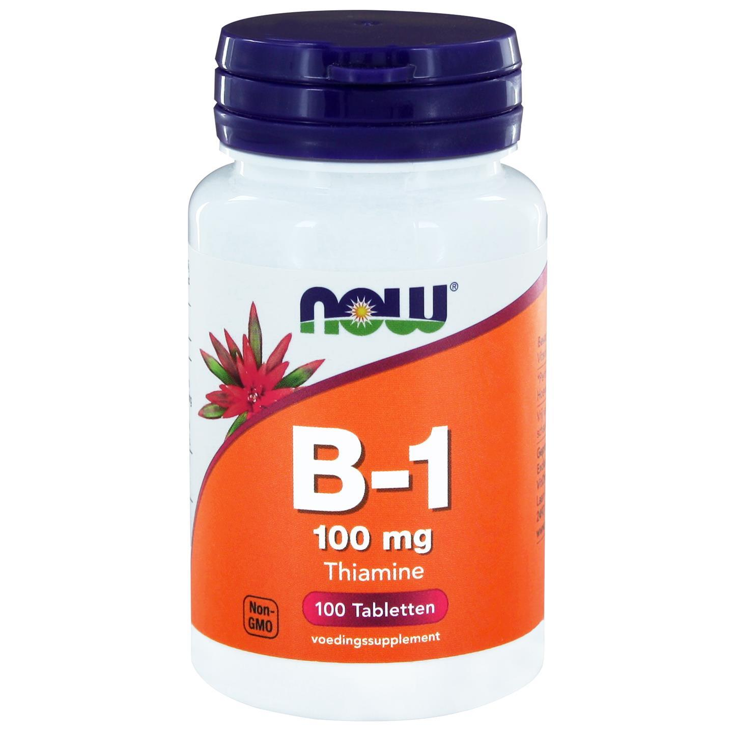 B 1 100 mg (100 tabletten) Now Foods