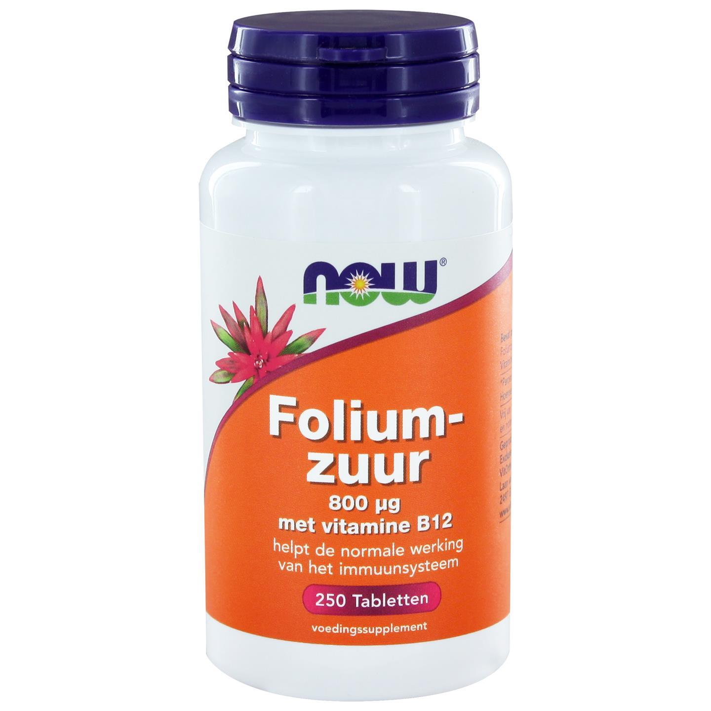 Now Foods Foliumzuur 800 ?g (250 tabs) NOW Foods