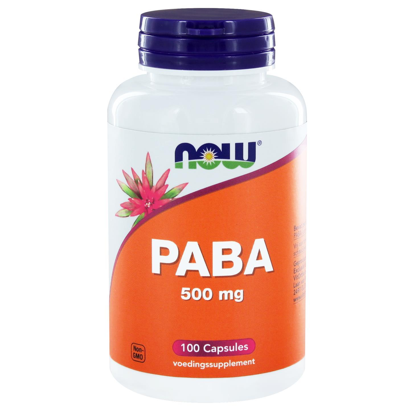PABA 500 mg (100 caps) NOW Foods