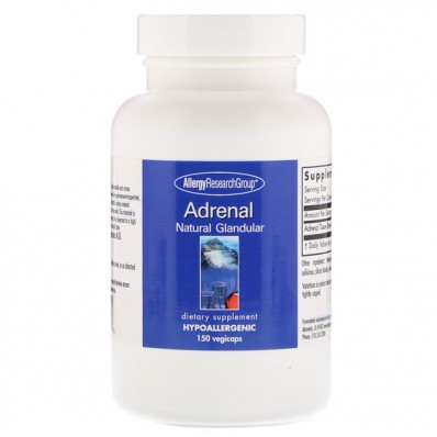 Adrenal Natural Glandular 150 Vegicaps Allergy Research Group