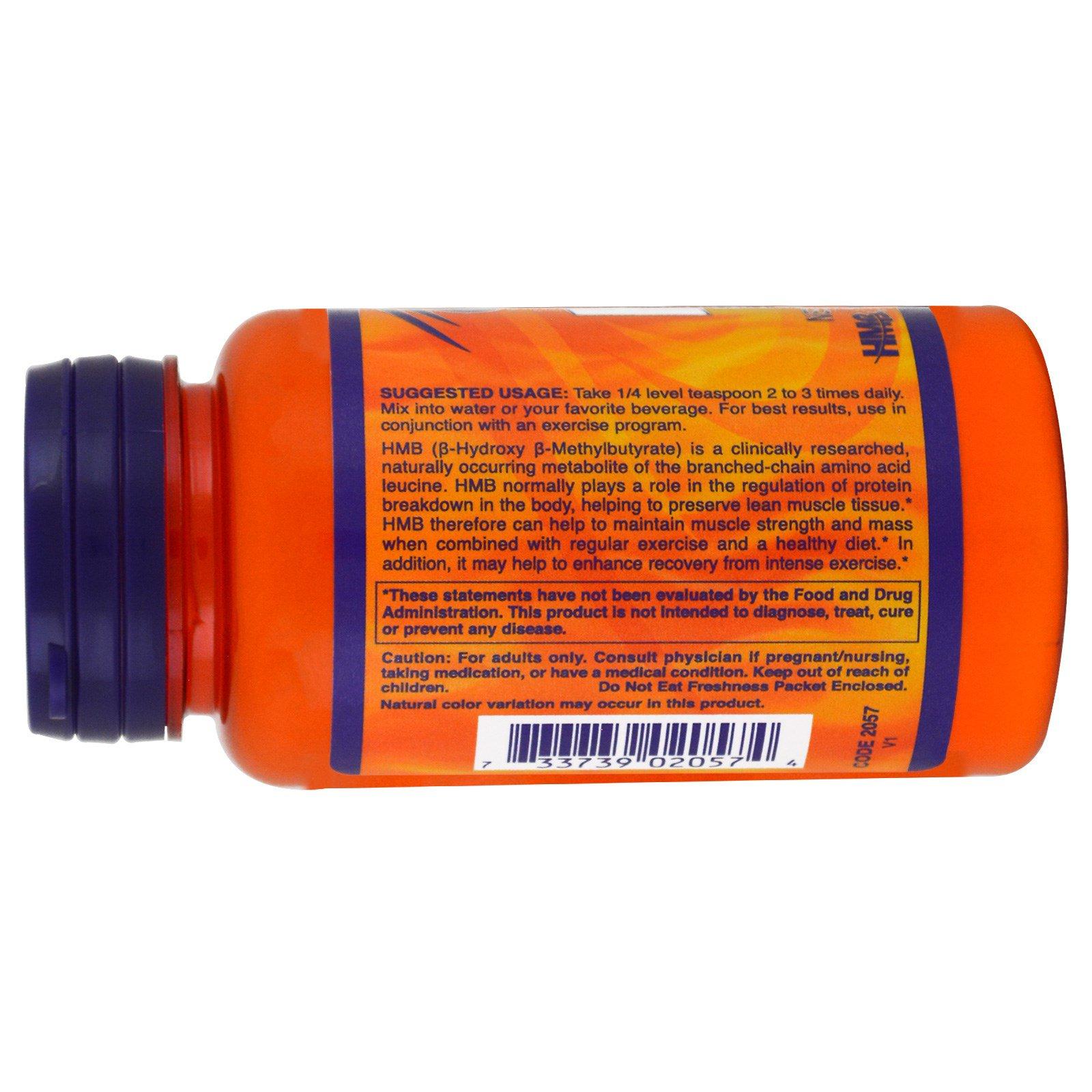 HMB Powder (90 gram) Now Foods, HMB (B-Hydroxy B-Methylbutyrate) is a clinically researched, naturally occurring metabolite of the branched-chain amino acid leucine.Extra gegevens:Merk : Now FoodsVerzendkosten : 3.95Levertijd : Vóór 23.00 besteld op werkdagen is morgen in huis.