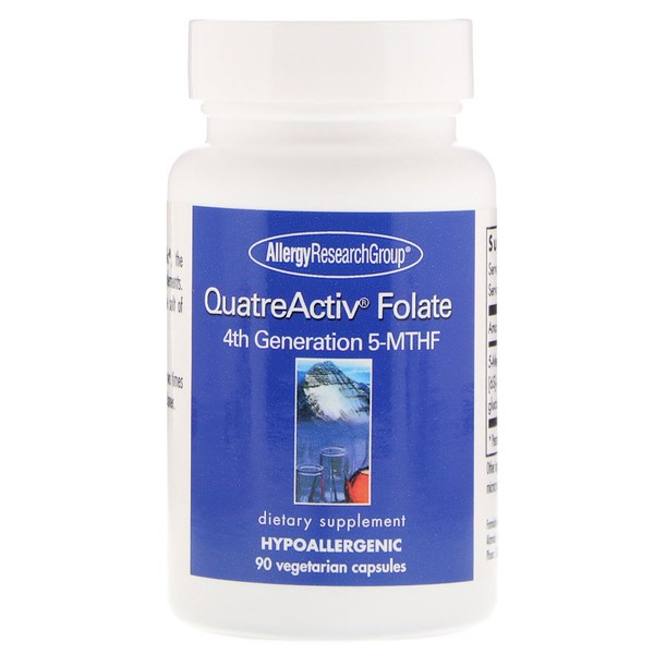 QuatreActiv Folate 4th Generation 5 MTHF 90 Vegetarian Capsules Allergy Research Group