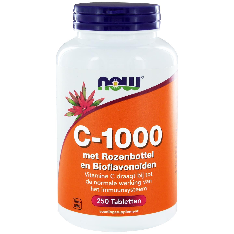 Now Foods C 1000 met Rozenbottel Bioflavonoïden (250 tabs) NOW Foods