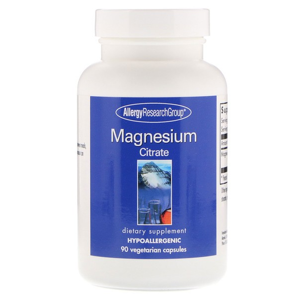 Magnesium Citrate 90 Vegetarian Capsules Allergy Research Group