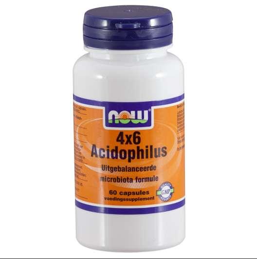 Foto van 4 x 6 Acidophilus (60 Capsules) - Now Foods