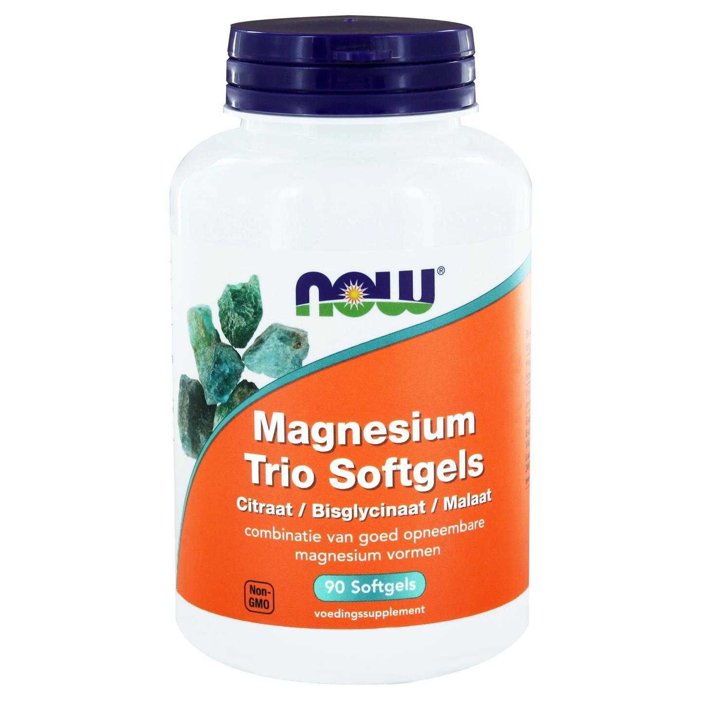 Magnesium Trio Softgels (90 softgels) NOW Foods