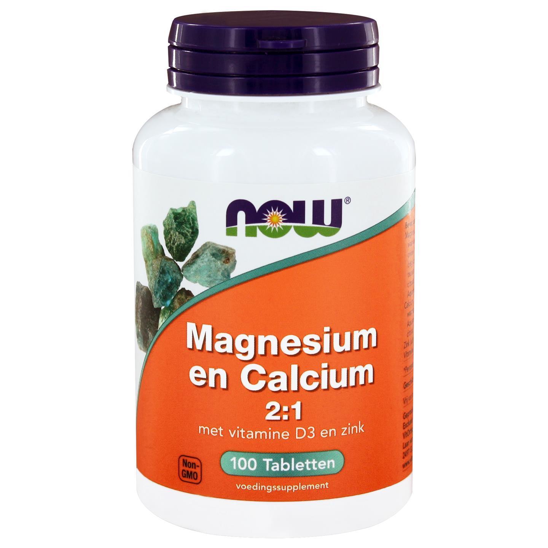 Magnesium en Calcium 2 1 (100 tabs) NOW Foods Now Foods