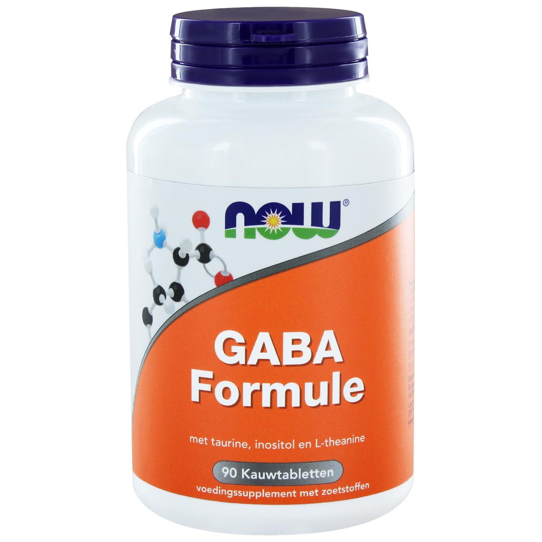 GABA Formule (90 kauwtabs) - NOW