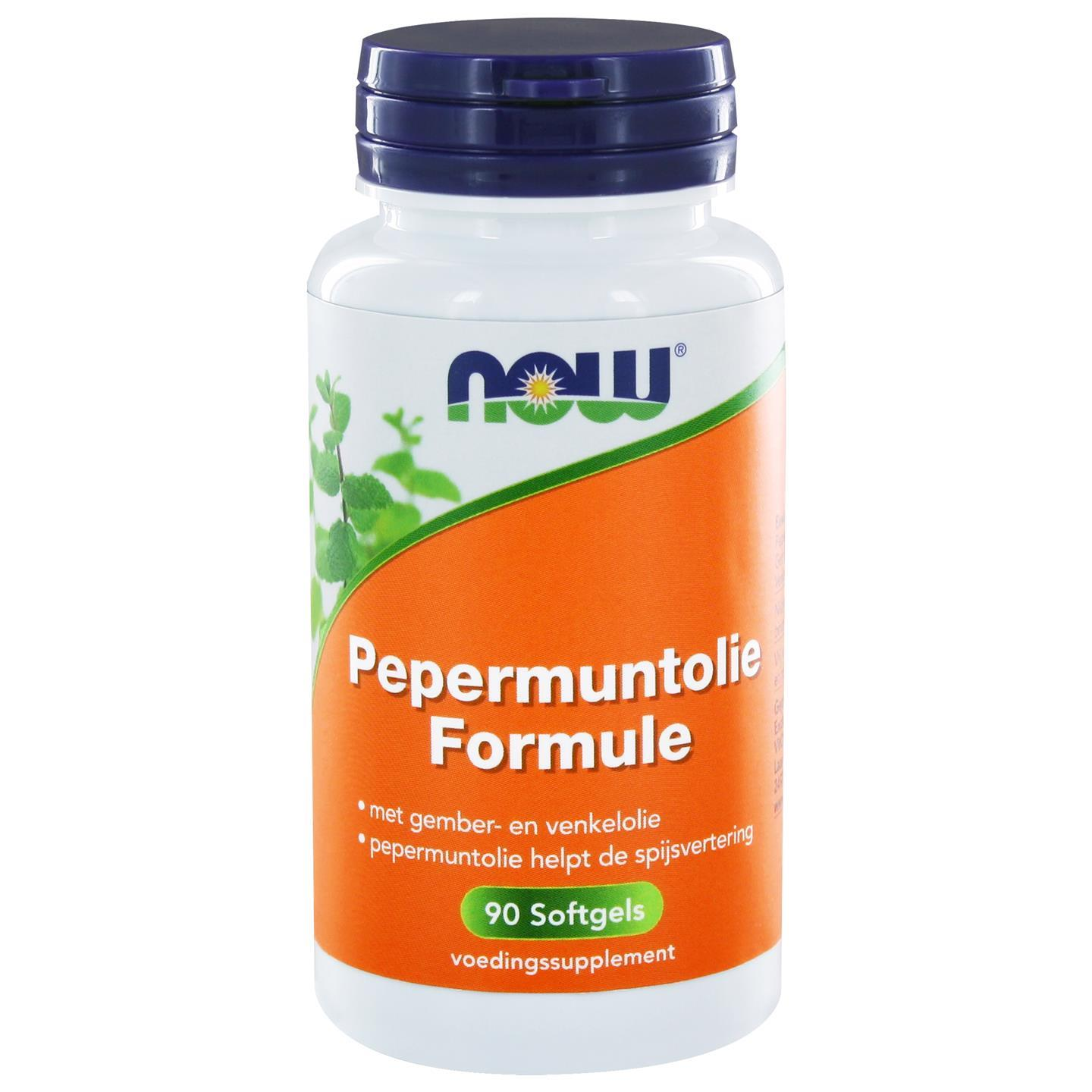Now Foods Pepermuntolie Formule (90 softgels) NOW
