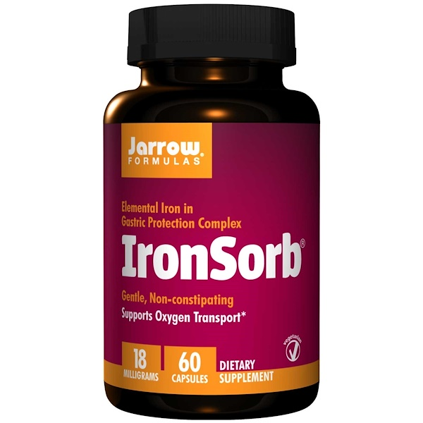 IronSorb 18 mg (60 Vegetarian Capsules) Jarrow Formulas