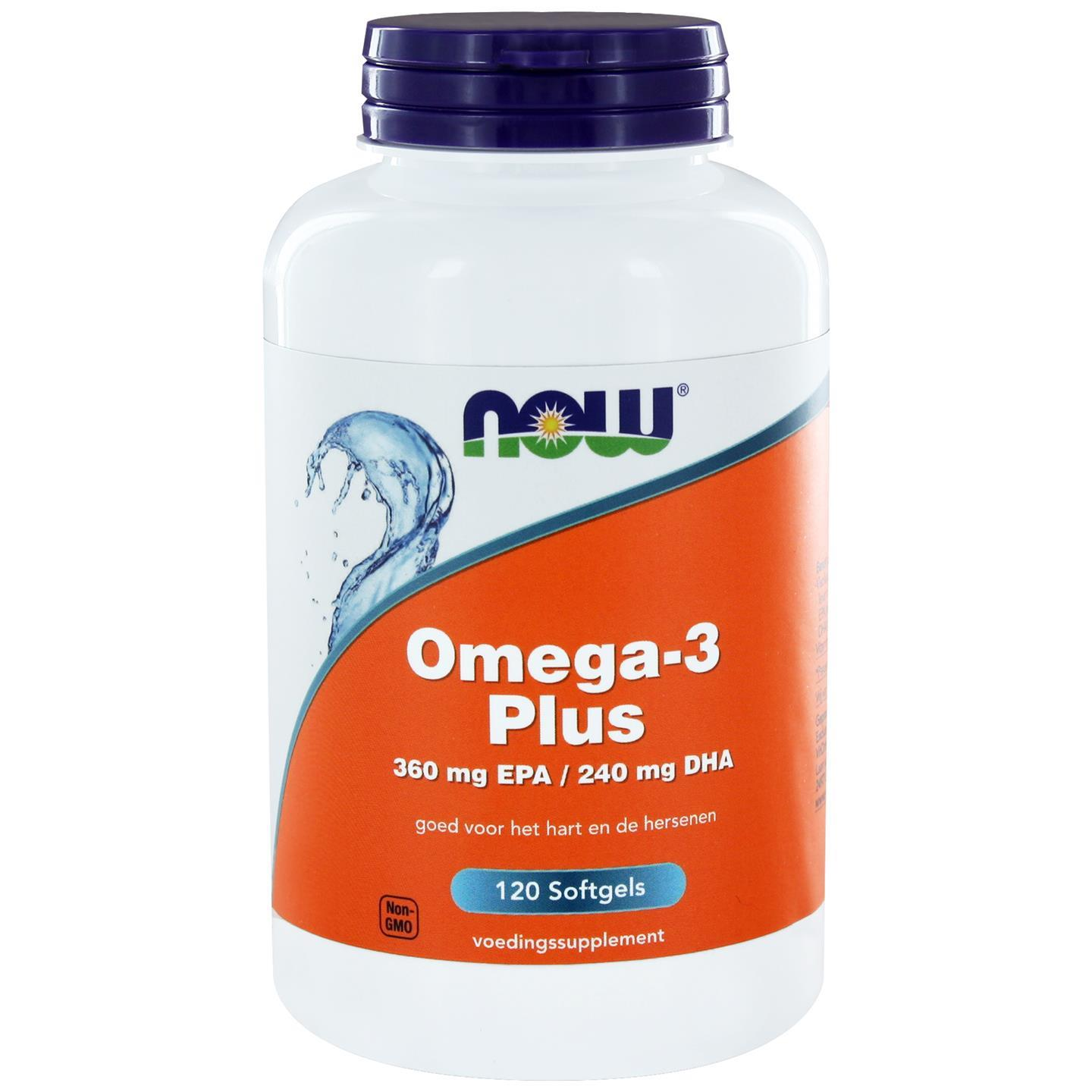 Now Foods Omega 3 Plus 360 mg EPA 240 mg DHA (120 softgels) NOW Foods