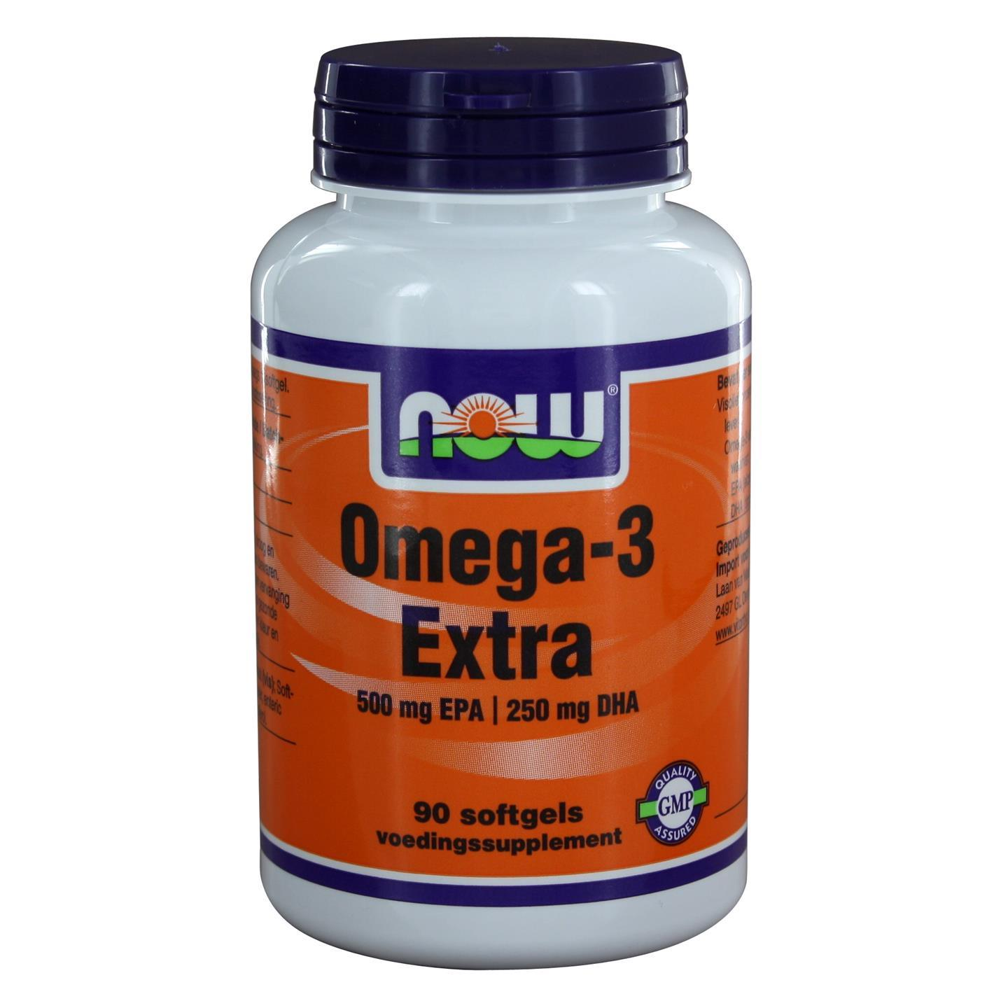 Now Foods Omega 3 Extra 500 mg EPA 250 mg DHA (90 softgels) NOW Foods