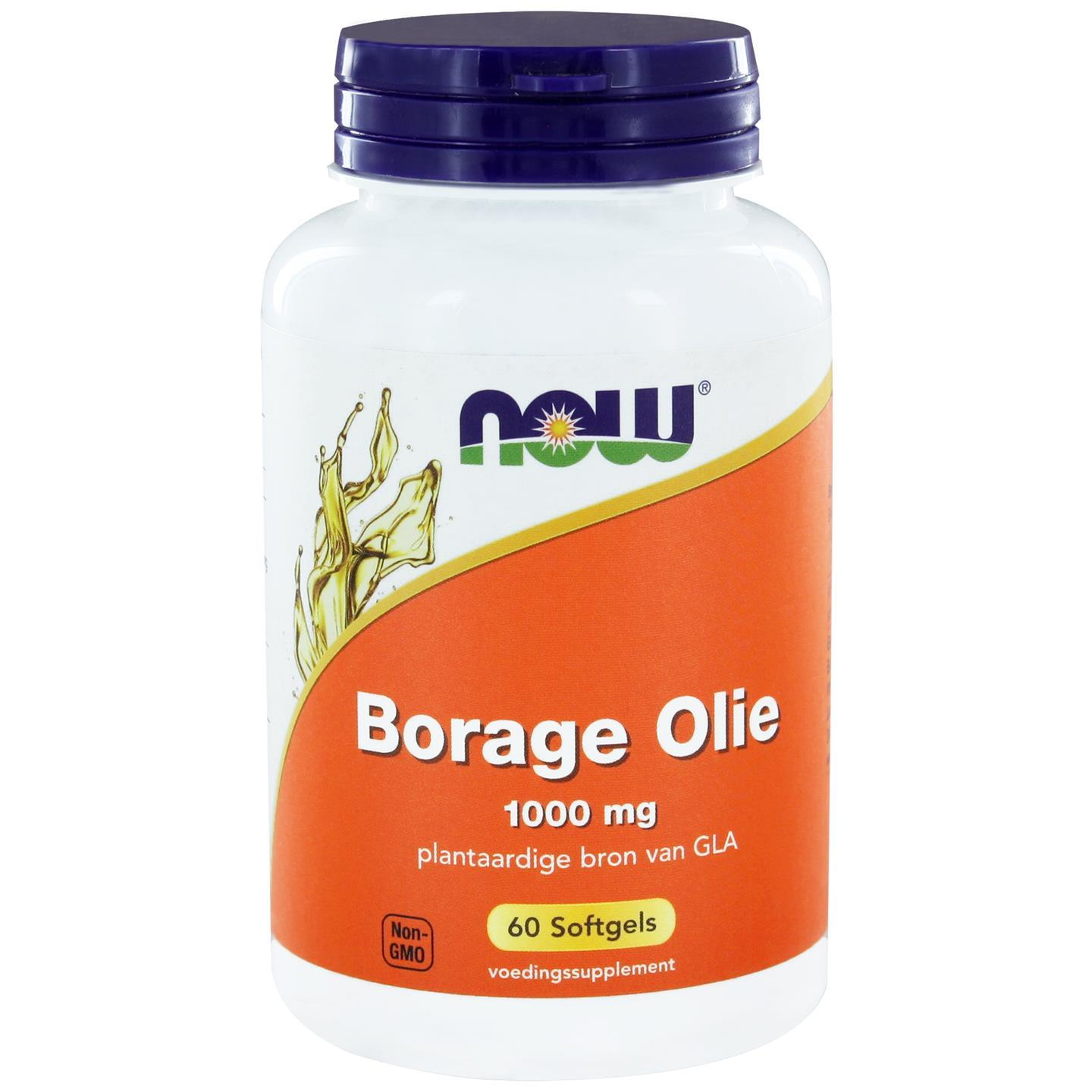 Borage Olie 1000 mg (60 softgels) NOW Foods