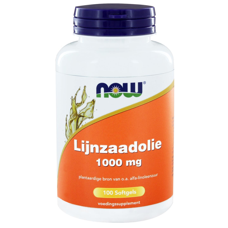Now Foods Lijnzaadolie 1000 mg (100 softgels) NOW Foods