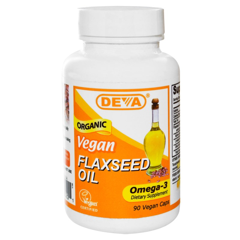 Flaxseed Oil Vegan (90 Vegan Caps) Deva