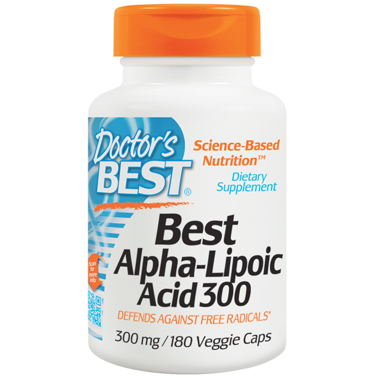 Doctor apos s Best, Best Alpha Lipoic Acid 300, 300 mg, 180 Veggie Caps