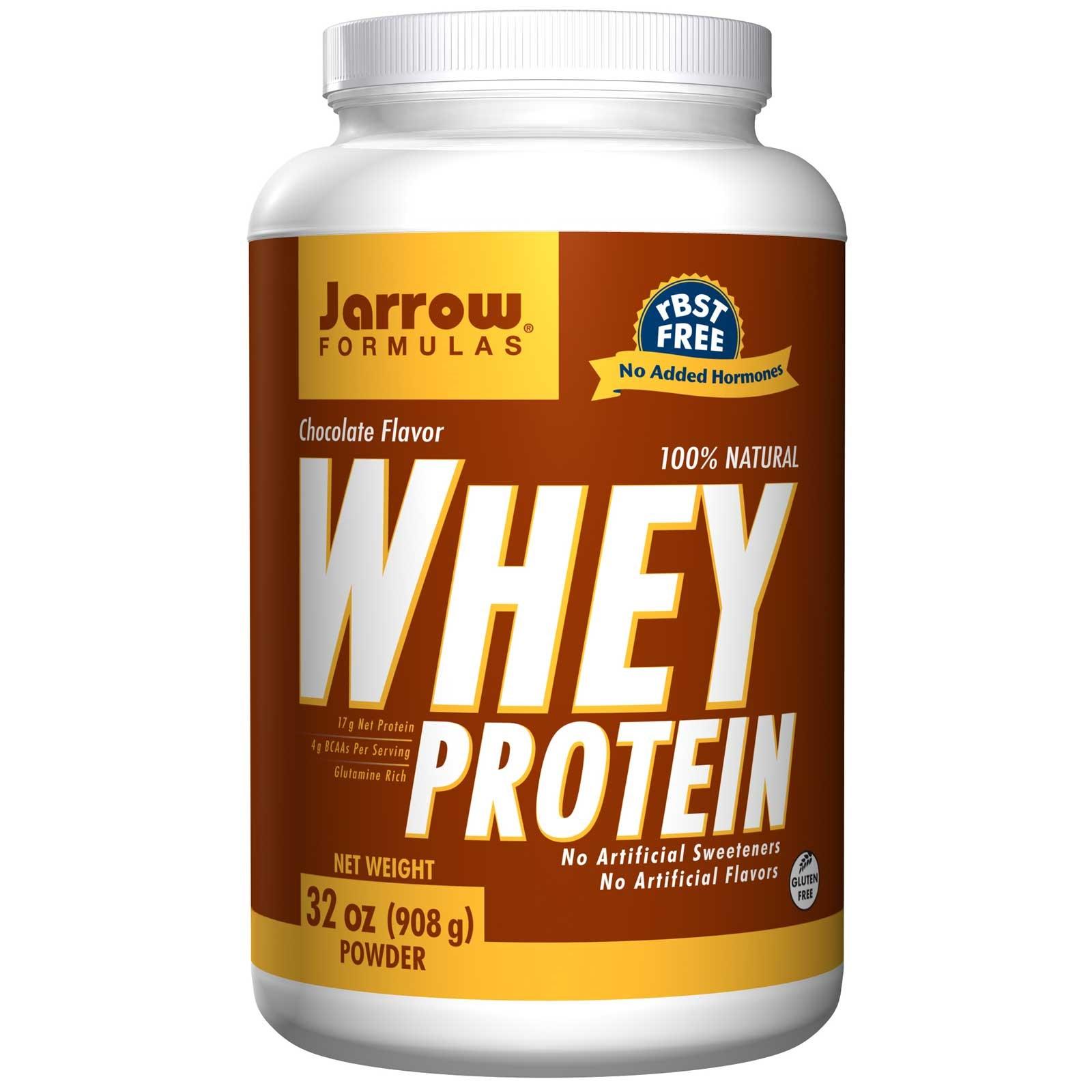 Foto van 100% Natural Whey Protein Chocolate Powder (908 gram) - Jarrow Formulas
