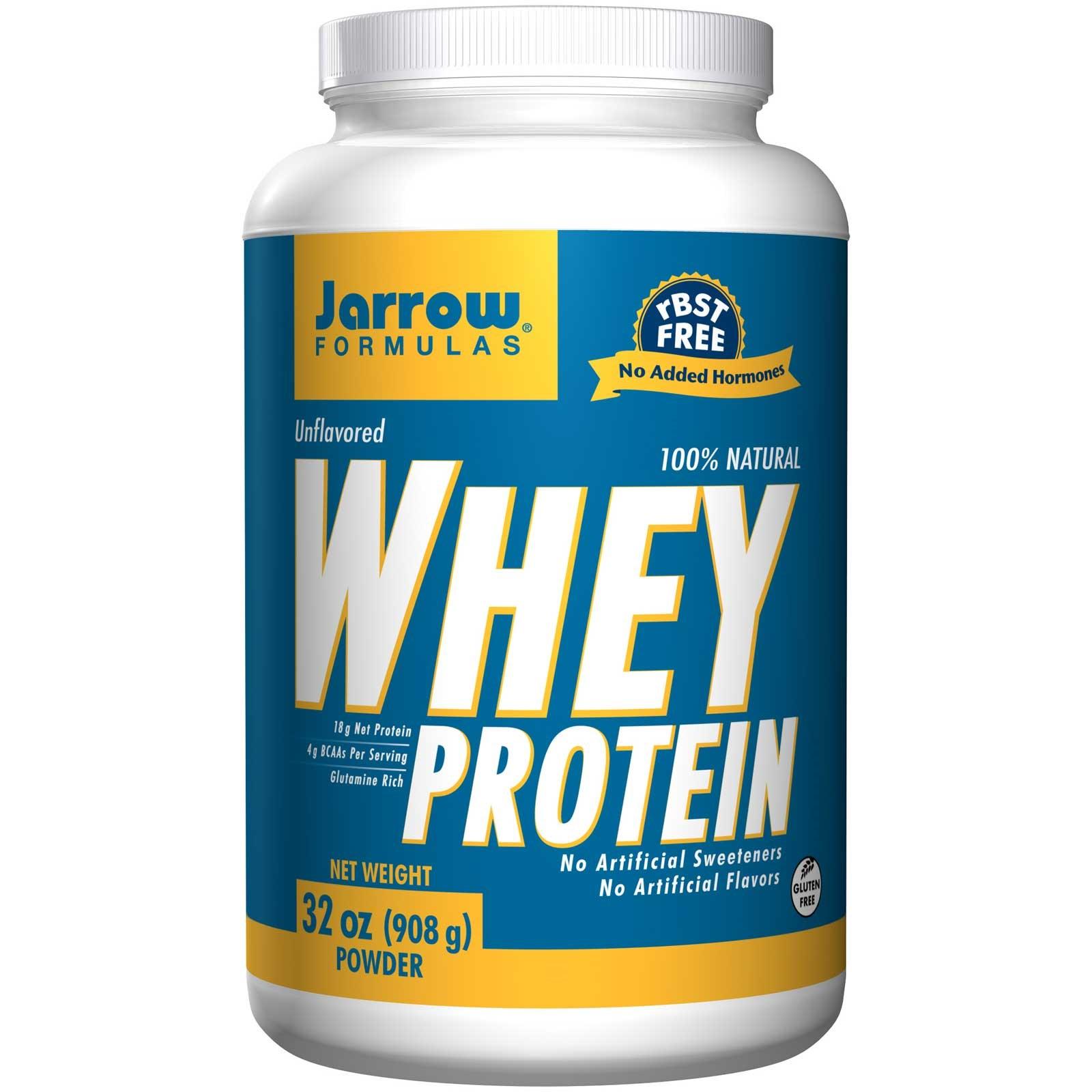Foto van 100% Natural Whey Protein Unflavored (908 gram) - Jarrow Formulas