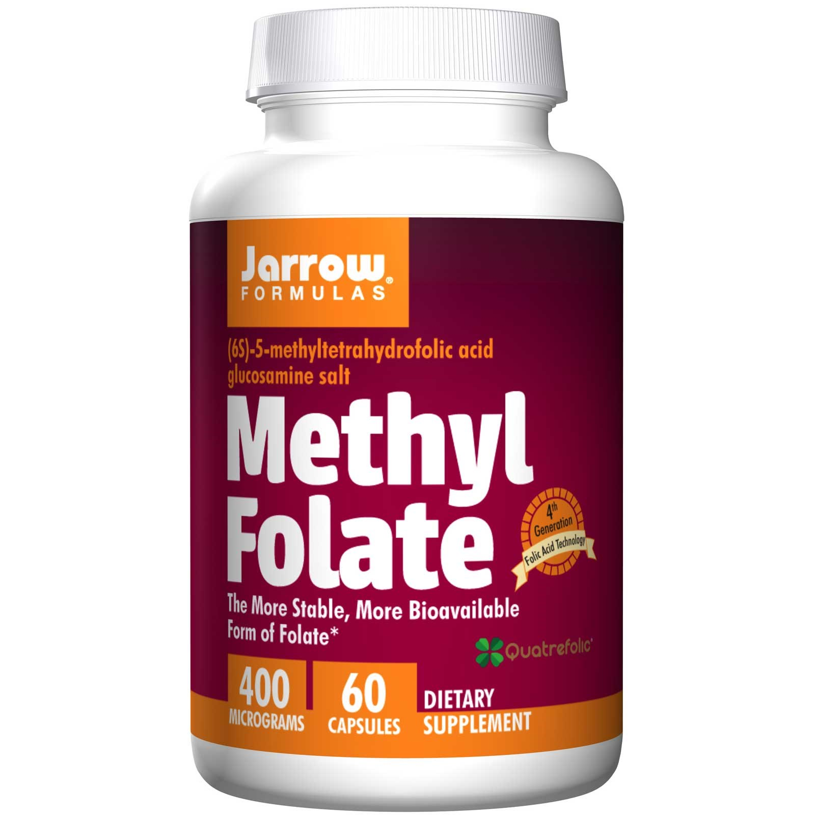 Methyl Folate 400 mcg (60 Capsules) Jarrow Formulas