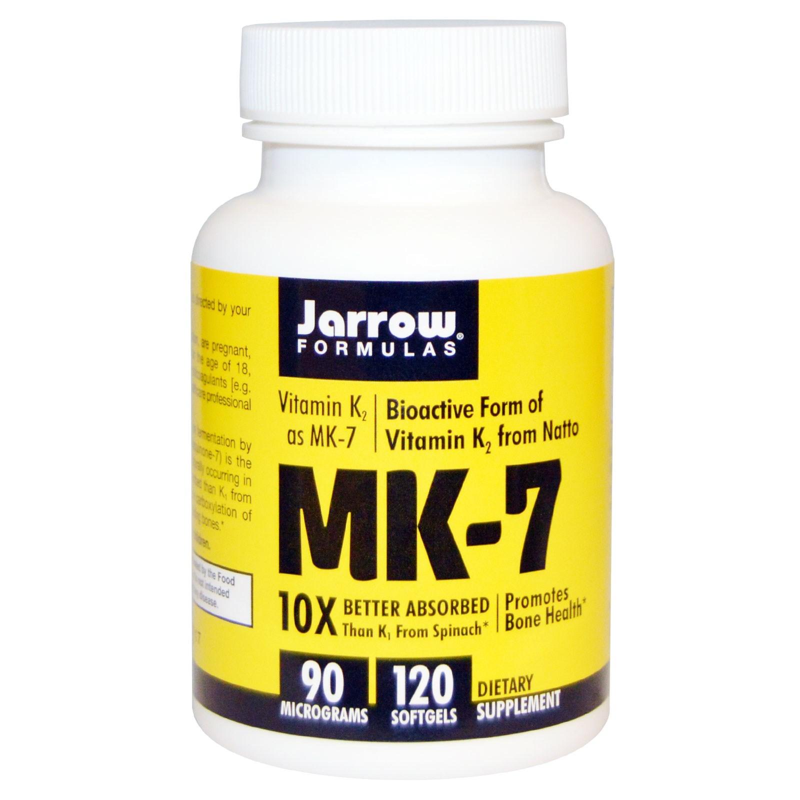 MK-7 vitamine K2 zoals MK-7, 90 mcg (120 gelcapsules) - Jarrow Formulas