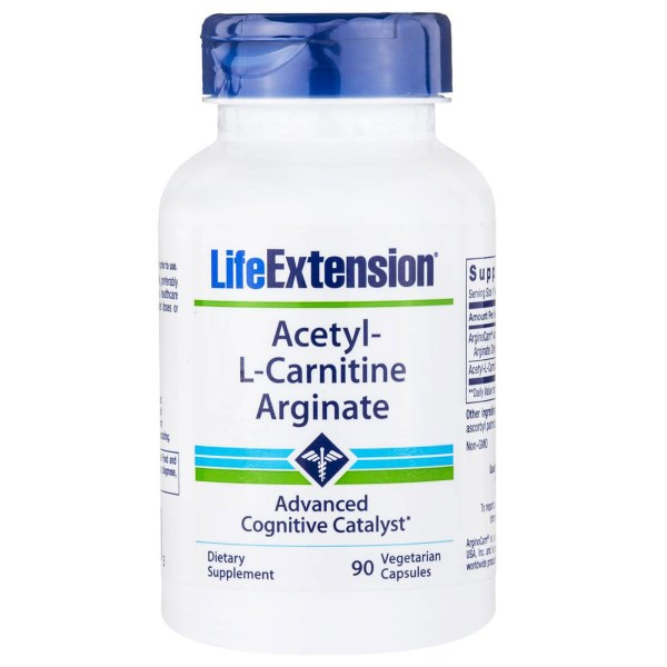 Acetyl L Carnitine Arginate (90 Veggie Capsules) Life Extension