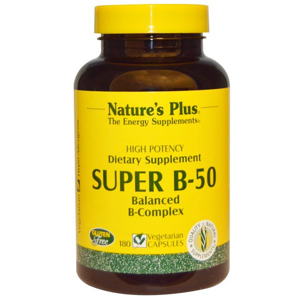 Super B 50 (180 Veggie Caps) Nature apos s Plus