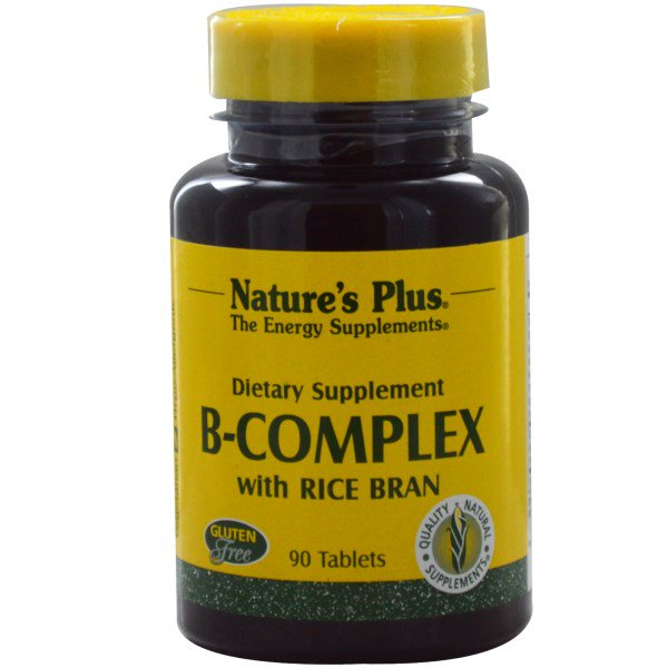 B Complex with Rice Bran (90 Tablets) Nature apos s Plus Nature apos s Plus nieuw
