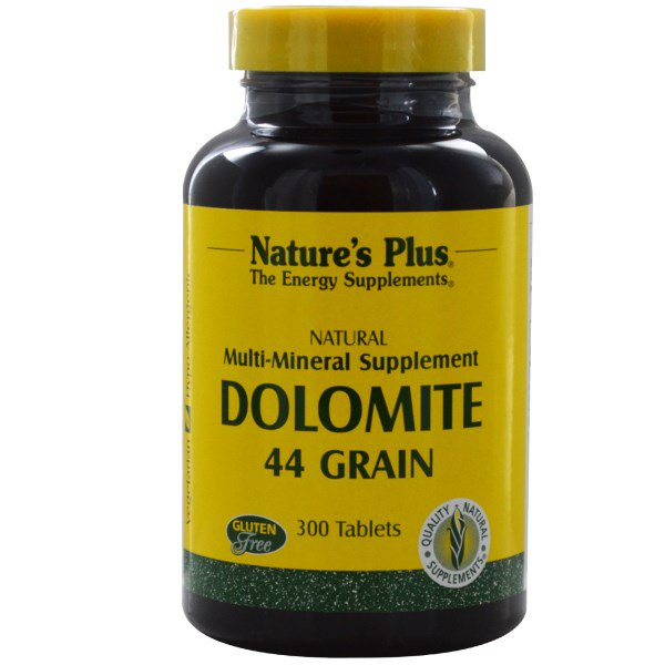 Dolomite, 44 Grain (300 Tablets) Nature apos s Plus
