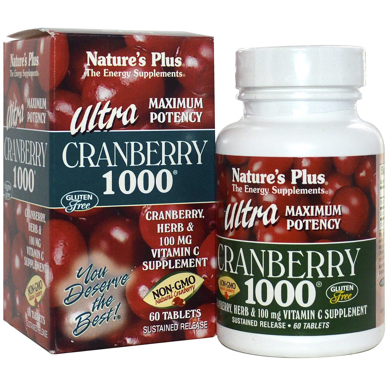 Ultra Cranberry 1000 (60 Tablets) Nature apos s Plus