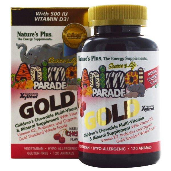 Children's Chewable Multi-Vitamin & Mineral Supplement, Natural Cherry Flavor (120 Animals) - N
