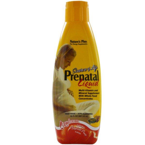 Prenatal Liquid, Natural Tropical Fruit Flavor (887 ml) Nature's Plus