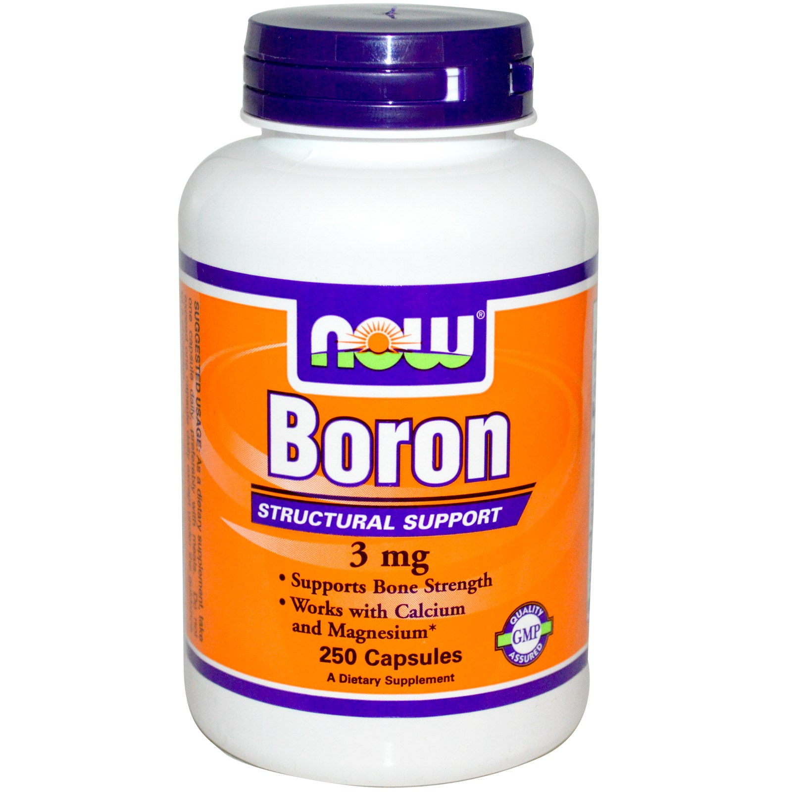 Now Foods Now Foods, Boron, 3 mg, 250 Capsules