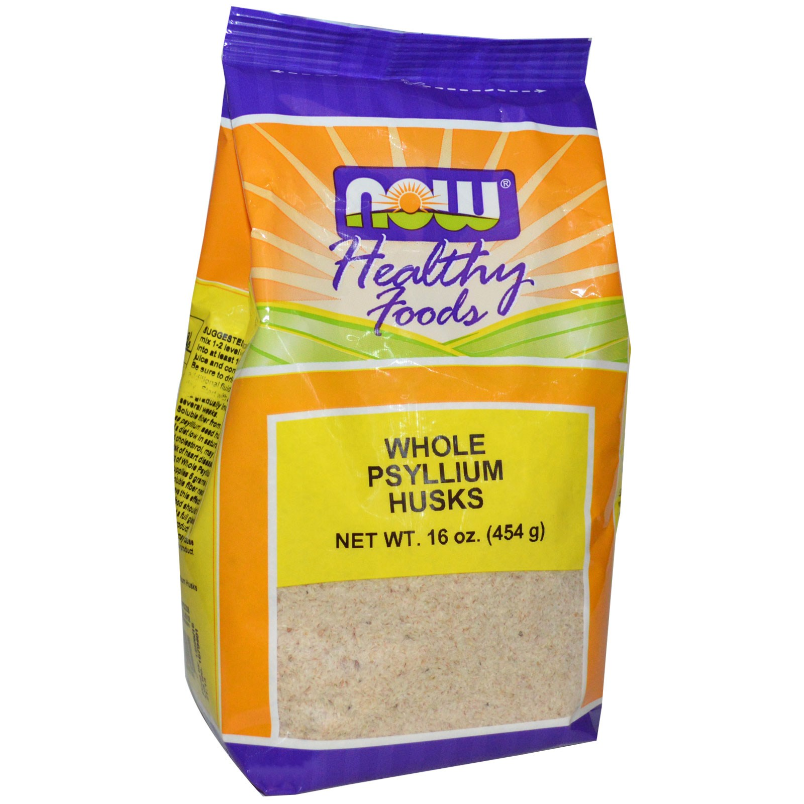 Whole Psyllium Husks (454 gram) Now Foods