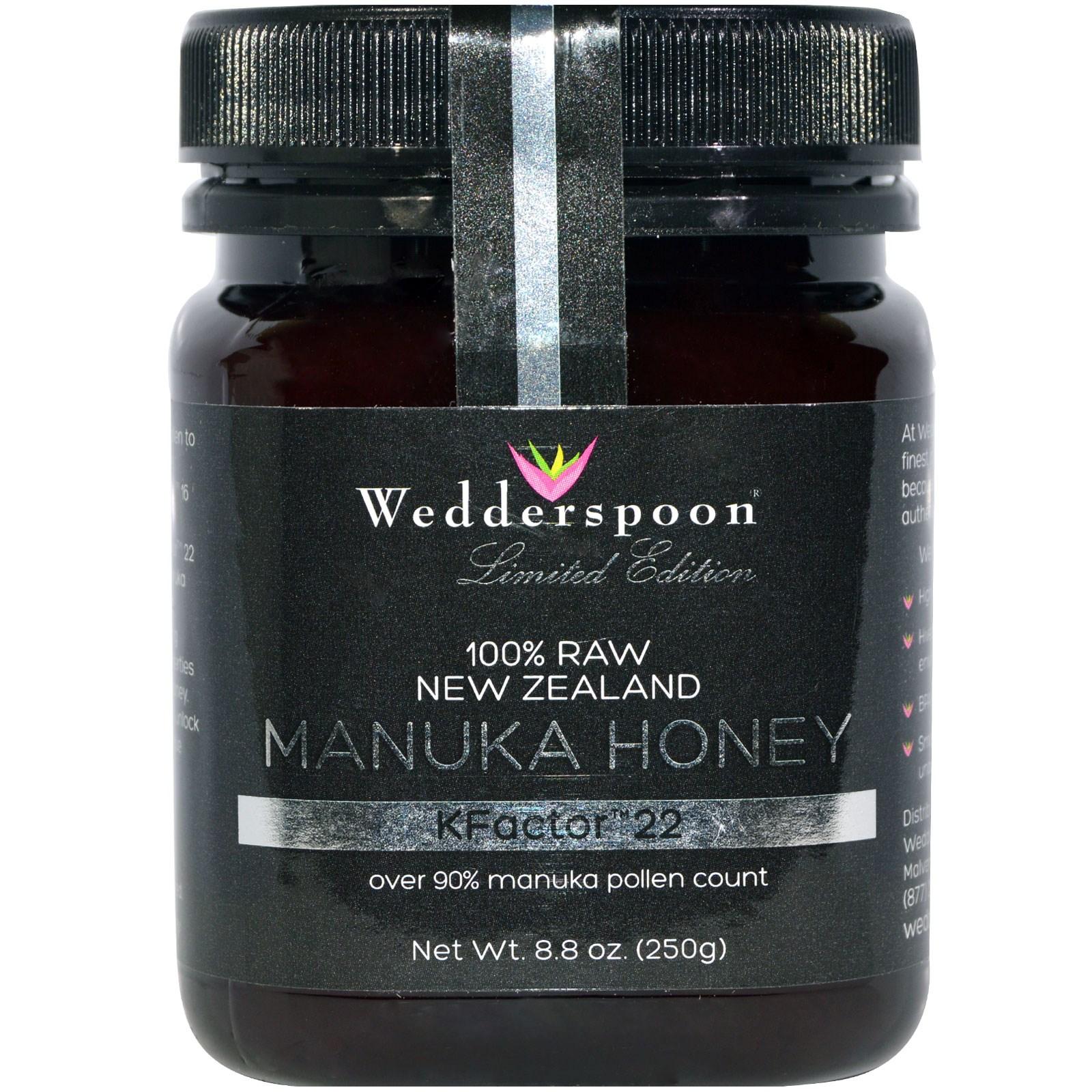 Foto van 100% Raw Manuka Honey KFactor 22 (250 gram) - Wedderspoon Organic