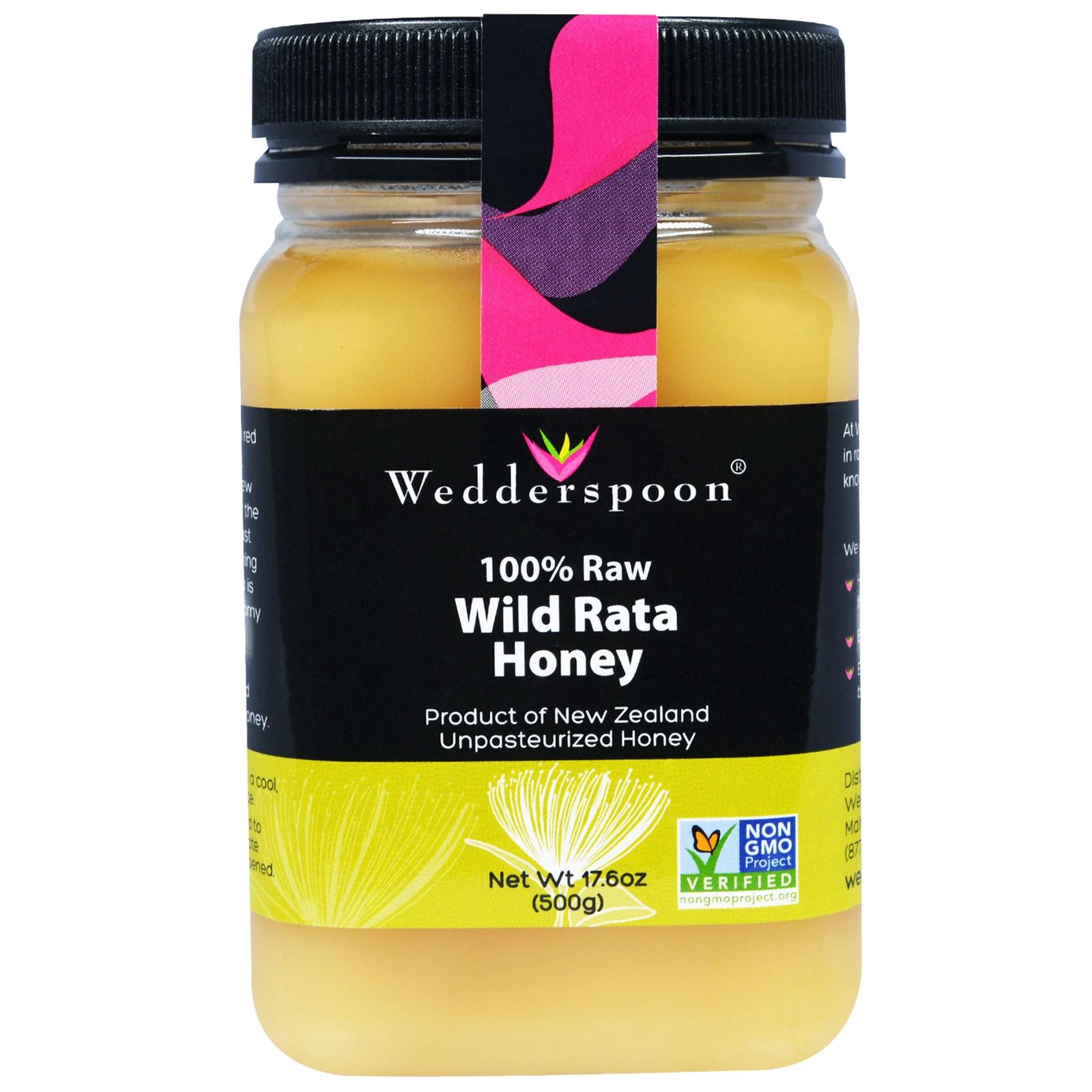 Foto van 100% Raw Wild Rata Honey (500 gram) - Wedderspoon Organic