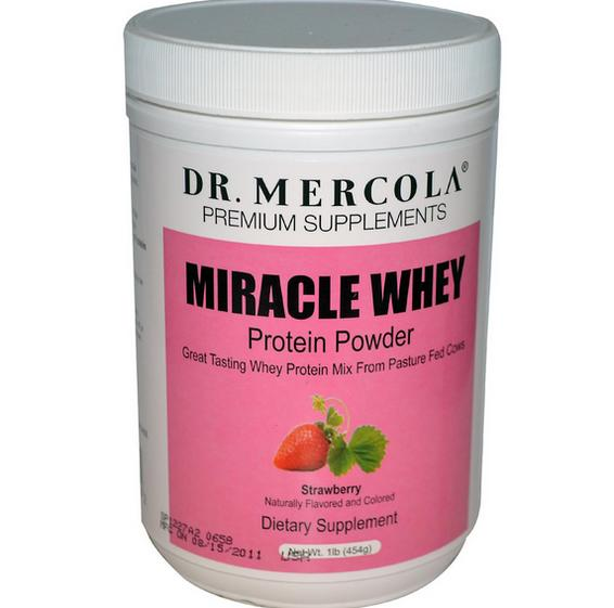 Miracle Whey eiwit poeder aardbei (454g) Dr Mercola Dr. Mercola