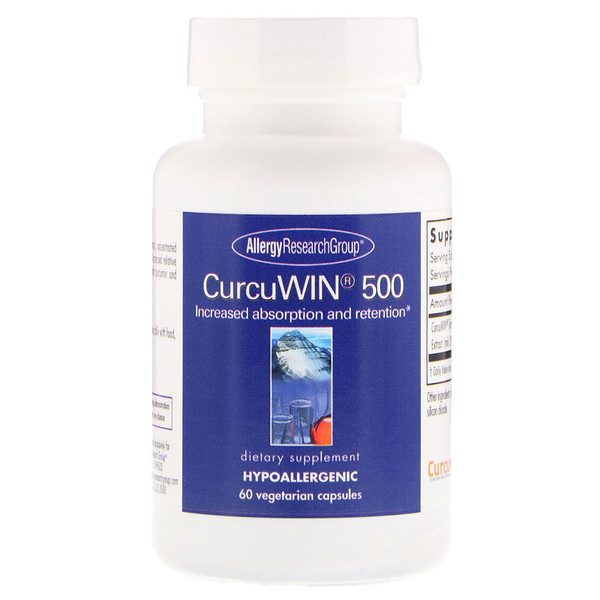 CurcuWin 500 60 Vegetarian Capsules Allergy Research Group