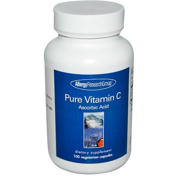 Pure Vitamin C 100 Veggie Caps - Allergy Research Group