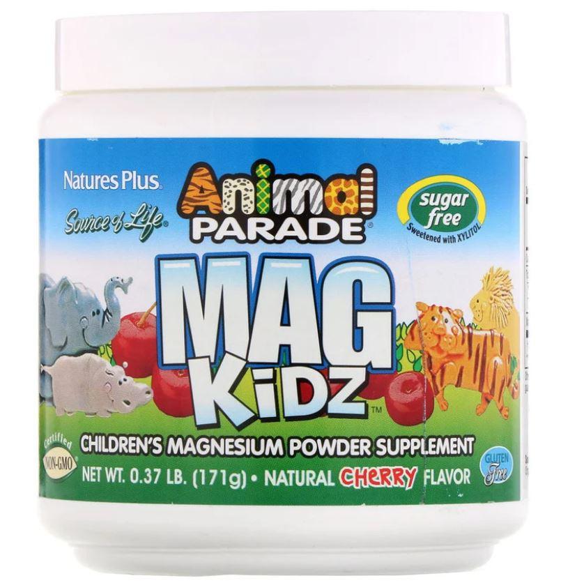 Animal Parade Mag Kidz Children apos s Magnesium Natural Cherry Flavor (171 grams) Nature apos s Plus