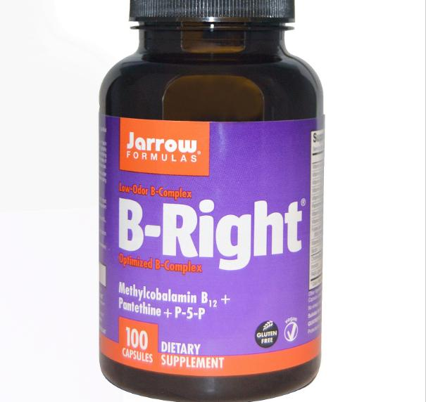B Right, B Complex (100 Capsules) Jarrow Formulas